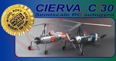 CIERVA C30 GYROPLANE : SCALE MODEL RC AUTOGYRO MODEL PLANE : SCALE