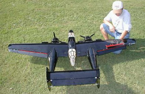 VQ P-61 TWIN OLIVE COLOPUR BLACKWIDOW RC SCALE AIRCRAFT
